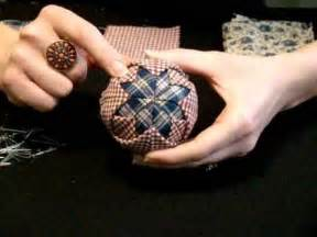 quilted christmas ornament 0001 wmv youtube