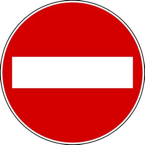Sign Board Dilarang Foto Per 1 Pcs file italian traffic signs senso vietato svg