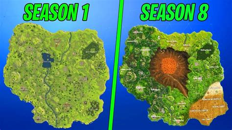evolution   entire fortnite island season   youtube