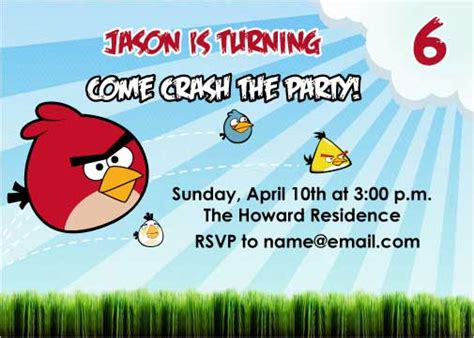 angry birds invitations template image search results