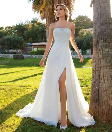 Neck Strapless Kb 005 destination style dr201 by demetrios chiffon strapless a line destination wedding gown