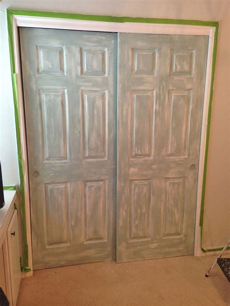 paint closet doors room makeover