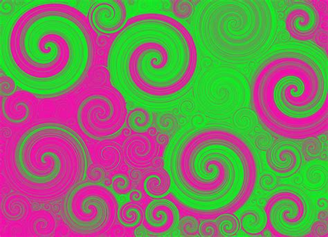 green and pink neon green and pink swirls digital art by michelle elaine