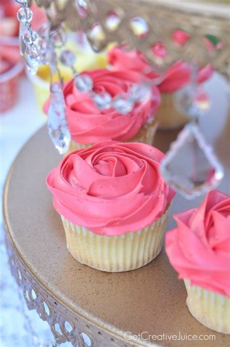 rose themed cupcakes rose cupcakes for a belle princess party cupcakes
