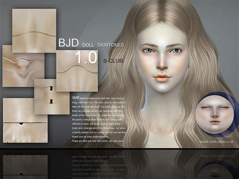 sims 3 jointed doll skin bjd doll skintone 1 0 by s club wmll at tsr 187 sims 4 updates