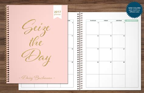 custom printable weekly planner 2017 2018 monthly planner custom month at a glance planner
