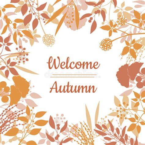 welcome card design template flat design style welcome autumn card stock vector image
