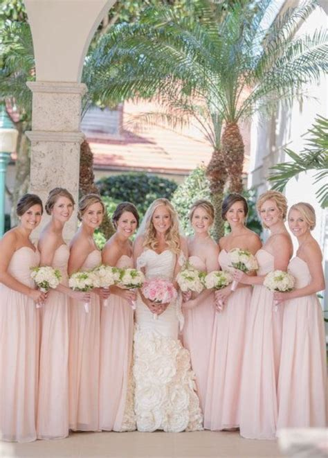 braut jungfer kleider elegant rosa brautjungfernkleider lang g 252 nstig chiffon