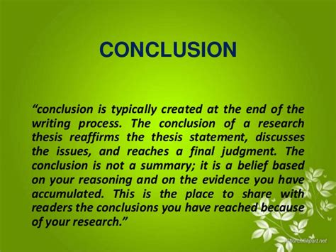 What To Write In The Conclusion Of An Essay by Summary And Conclusion