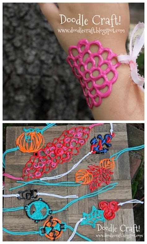 doodle craft paint bracelets things to make and do crafts and