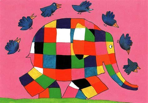Elmer The Patchwork Elephant Story - elmer the elephant illustrations from children s books