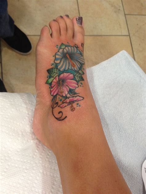 Flower Foot Tattoos For 2 Collection Of 25 Pink Flowers Foot Tattoo Design
