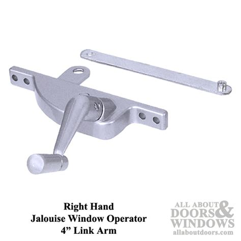jalousie window operator right window operator with 4 inch link for jalousie