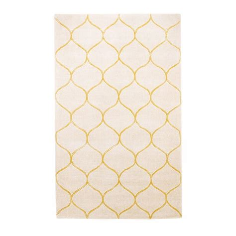 Kas Rugs Simple Scallop Ivory 5 Ft X 8 Ft Area Rug Simple Area Rugs