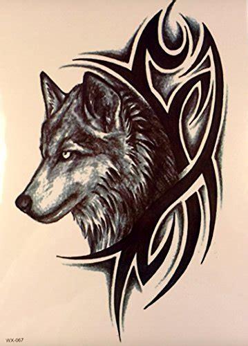 Tribal Wolf Aufkleber by M 196 Nner Tattoo Wolf Und Tribal Schwarz Oberarm Tattoo