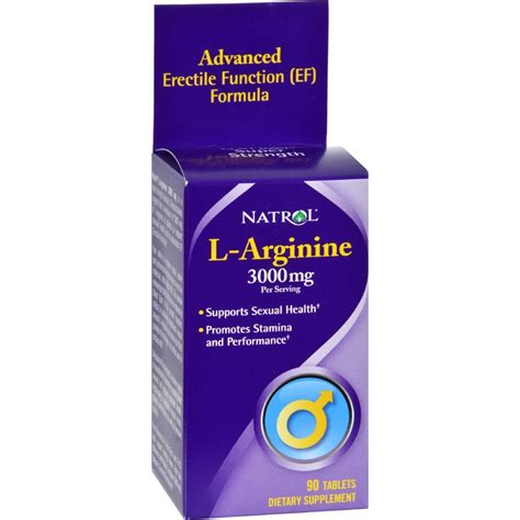 Natrol L Arginine 3000mg Arginine 3000 Mg natrol l arginine 3000 mg supports sexual health 90