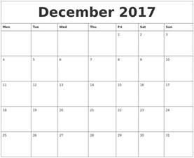 december word calendar 2017 calendar template