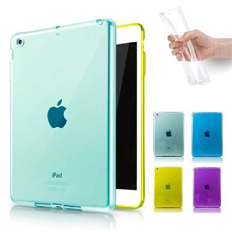 Cover Mini 1 2 3 Jelly clear jelly gel rubber soft skin cover for apple