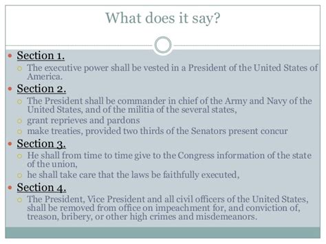 article 2 section 1 constitution article ii of the us constitution