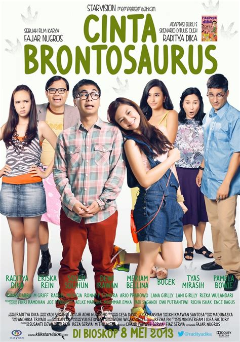 film cinta brontosaurus pin by totot on poster film indonesia 2013 pinterest