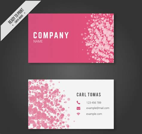 pink business cards templates free 25 free pink business card templates for designyep