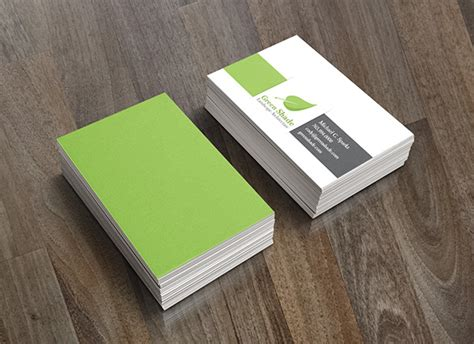 Landscape Architect Business Card Green Shade Landscape Architecture On Behance