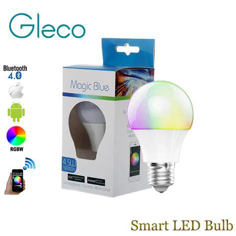 led bluetooth light bulb bluetooth led bulb e27 rgbw 4 5w bluetooth 4 0 smart led