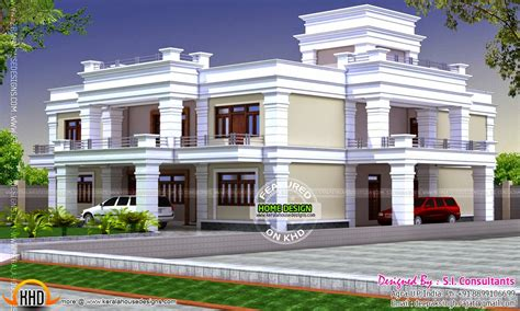 flat roof house plans decorative flat roof house kerala home design and floor