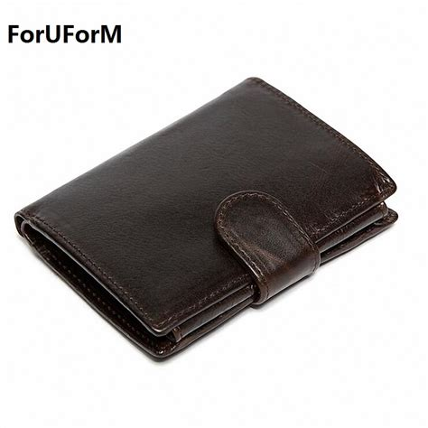 aliexpress pocket genuine leather men wallets short coin purse small vintage
