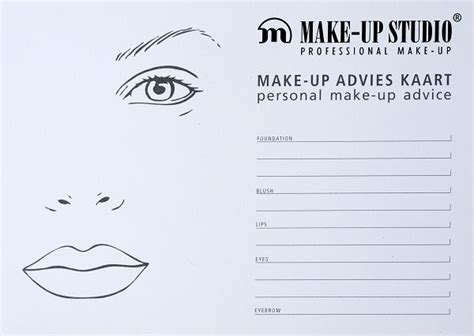 What Makes Up Paper - blanco facecharts to create makeup looks on paper great