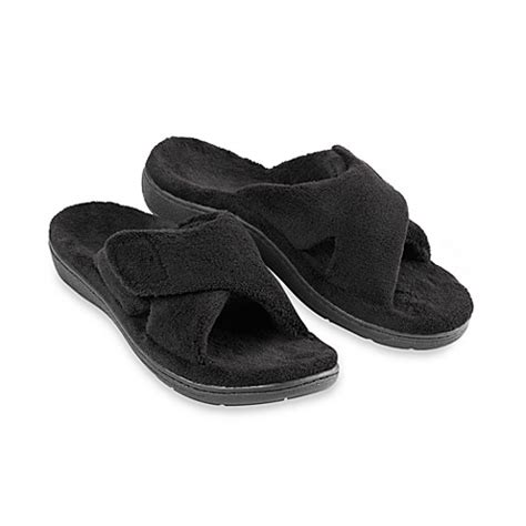 orthaheel relax slipper orthaheel 174 relax s black slippers bed bath beyond