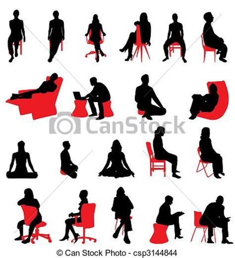 silhouette persone sedute vettore eps di silhouette seduta persone molti
