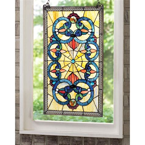 Stained Glass L Forms by Corrista Style Stained Glass Window Panel