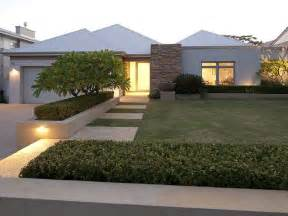 modern front yard landscaping ideas modern garden design using grass with verandah