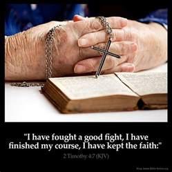 2 timothy 4 7 inspirational image