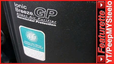 ionic breeze air purifier  gp germicidal protection  hepa filter  room ozone