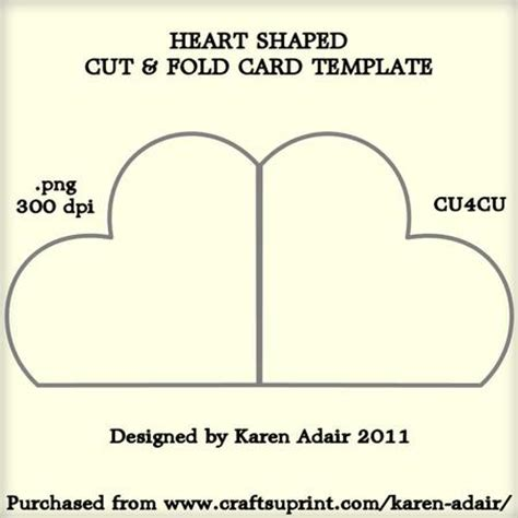 shaped cut and fold card template cup226347 168