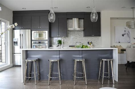 modern gray kitchen chrome kitchen stools large size of white and chrome