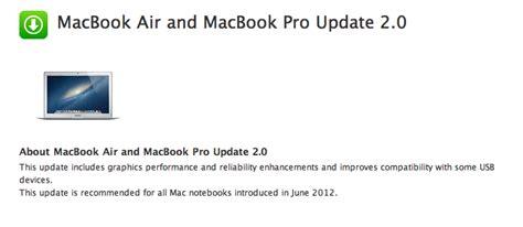 Air 2 Update macbook air and macbook pro update 2 0 updated