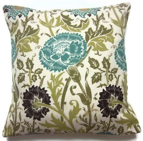 Turquoise Pillows Living Room Decorative Pillow Cover Olive Green Turquoise Brown Ecru