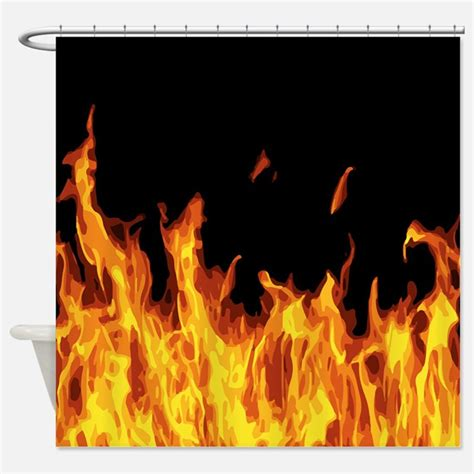 flame curtains flame shower curtains flame fabric shower curtain liner