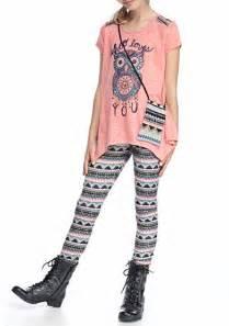 Owl Bed Set Belle Du Jour 3 Piece Owl Top Printed Legging And Bag Set