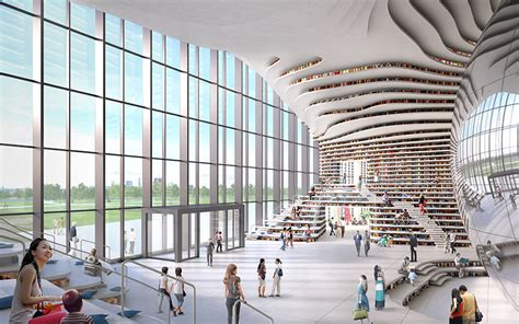 Two Level Floor Plans by Mvrdv S Library In Tianjin Nears Completion