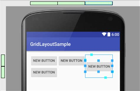 grid layout android studio using the android 6 gridlayout manager in android studio