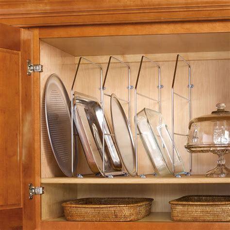 Kitchen Cabinet Divider Rack | cabinet organizers kitchen cabinet wire tray dividers