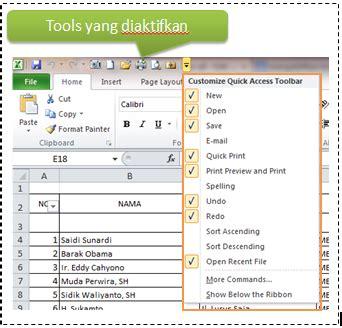 Umn Microsoft Office by Mengaktifkan Tools Penting Pada Microsoft Excel 2010