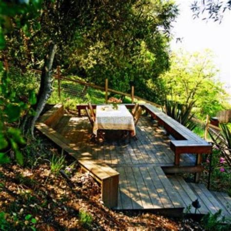 sloped backyard deck ideas best 25 sloped backyard ideas on pinterest sloping