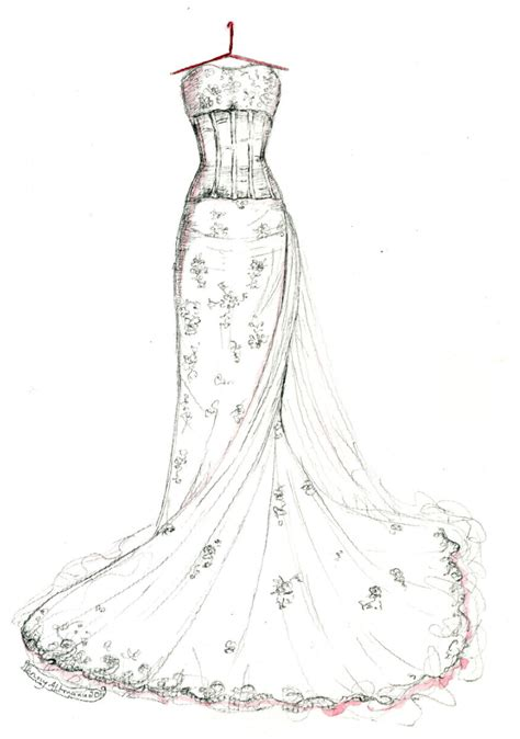 Drawing Dresses by Free Prom Dresses Coloring Pages