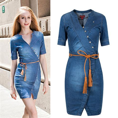 jeans dress pattern dresses on ok fashion 2016 new arrival women denim dress