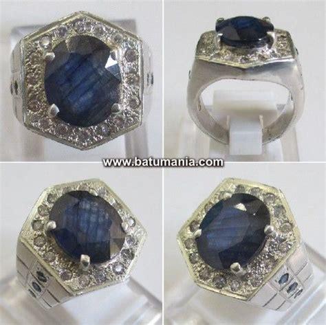 Blue Sapphire Safir Afrika cincin batu blue safir afrika est jewelry